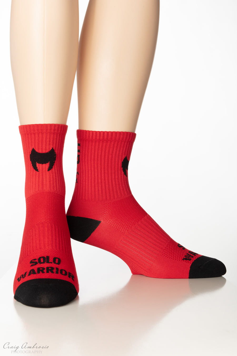 WARRIOR PEDAL'S UP Men's and Women's Compression Cycling Socks