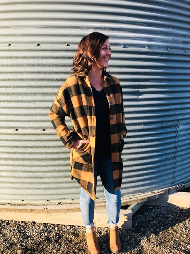 Copper Plaid Jacket
