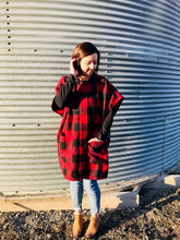 Load image into Gallery viewer, Kenzie Plaid Poncho