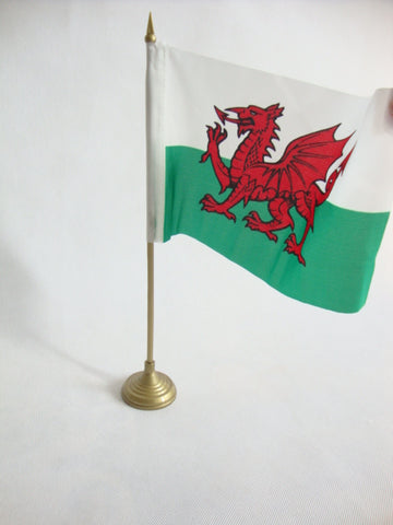 Welsh Flag with Stand