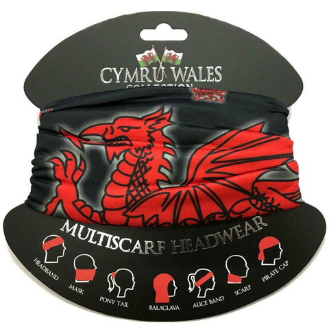 Wales Dragon Multi Scarf /Snood /Face Covering