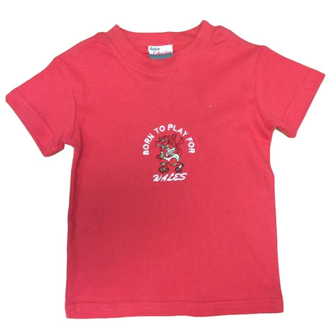 Born to Play Wales Baby T-Shirt