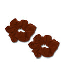 Brown Scrunchies