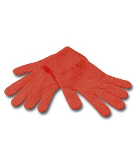 Red Knitted Gloves