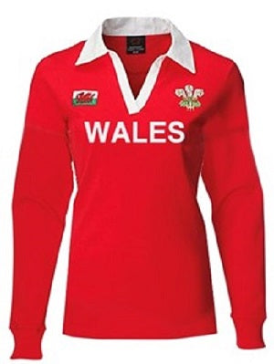 Ladies Long Sleeve Wales Rugby Jersey