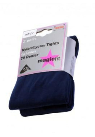 Twin Pack Navy Opaque Tights