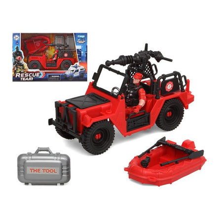 Playset Firefighters Rescue Team Rouge