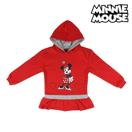 Sweat-shirt à capuche fille Minnie Mouse 74243 Rouge