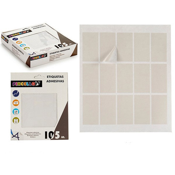 Etisuettes Autocollants Rectangulaire (25 x 45 mm - 105 uds)