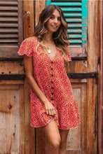 Load image into Gallery viewer, Floral Printed Vacation Mini Dress