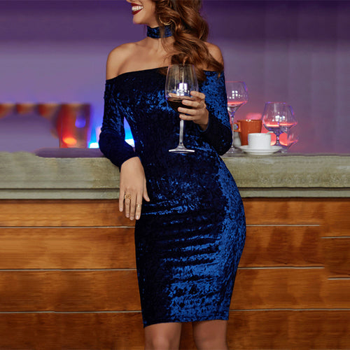 Glamorous Off Shoulder Sequin Bodycon Dress