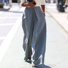 Load image into Gallery viewer, Zipper Plain Wide Leg Pants