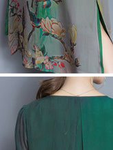 Load image into Gallery viewer, Round Neck Hollow Out Printed Shift Dress