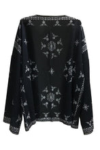 Load image into Gallery viewer, Asymmetric Hem Batwing Sleeve Snap Front Printed Kimono