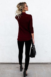 Basic V Neck  Plain T-Shirts