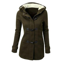 Load image into Gallery viewer, Trench Coat Horn Button Wool Casual Thick Outwear