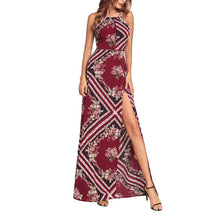 Load image into Gallery viewer, Sexy Halter Stitching Irregular Vacation Dress