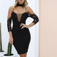 Load image into Gallery viewer, Lace Long-Sleeved Sexy Sling Wedding Bodycon Dresses