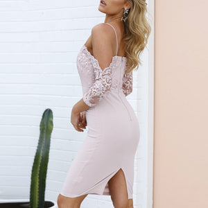 Lace Long-Sleeved Sexy Sling Wedding Bodycon Dresses