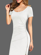 Load image into Gallery viewer, Round Neck  Plain  Blend Bodycon Dress