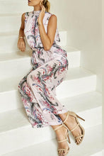 Load image into Gallery viewer, Halter  Elastic Waist  Back Hole Belt  Floral Printed Jumpsuits