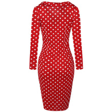 Load image into Gallery viewer, Elegant Bow-Knot Dot Slim Dress