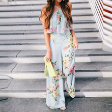 Load image into Gallery viewer, Bohemia Style Floral Printed Jumpsuit