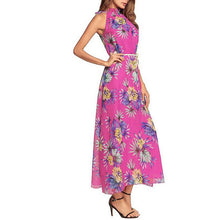 Load image into Gallery viewer, Bohemia Printing Flower Chiffon Vacation Dress