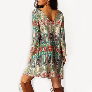 Early Spring Printed Dress