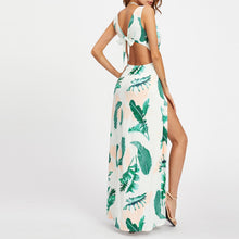 Load image into Gallery viewer, Sexy Hollow Printing Flower Slit Dress