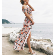 Load image into Gallery viewer, Bohemia Printing Split Two Piece Set Vacation Dress