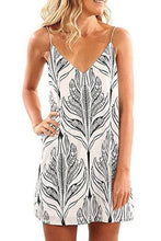 Load image into Gallery viewer, Spaghetti Strap  Printed  Sleeveless Casual Dresses