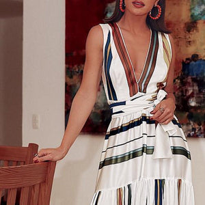V-Neck Sexy Elegant Vacation Maxi Dress