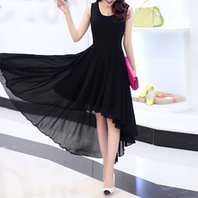 Load image into Gallery viewer, Elegant Pure Color Chiffon Skater Dress