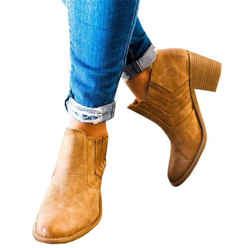 Retro Mid-Heel Booties