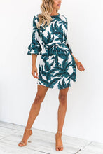 Load image into Gallery viewer, Fashion Jewel Neck Floral Print Mini Dress