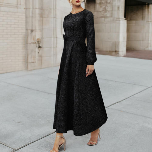 New Slim Long Sleeve Maxi Dress