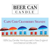 NEW 100 % Soy Beer Can Candle - Cape Cod Cranberry Shandy