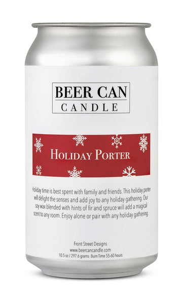 100 % Soy Beer Can Candle - Holiday Porter