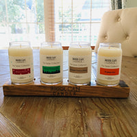 Mini Taster Set of 4 Candles with wooden handle