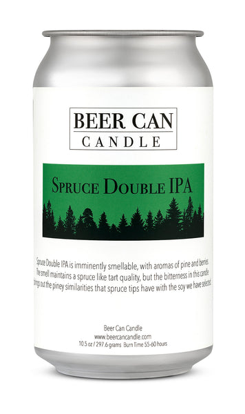 100 % Soy Beer Can Candle - Spruce Double IPA
