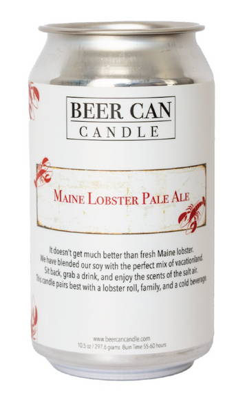 NEW 100 % Soy Beer Can Candle - Maine Lobster Pale Ale