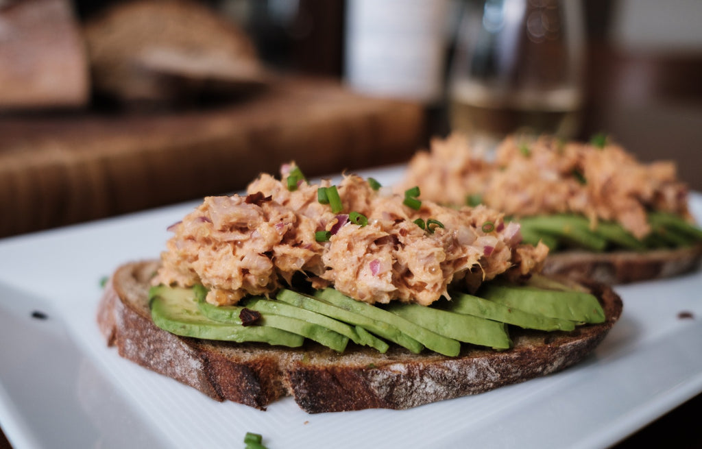 Open Faced Spicy Tuna Sandwich