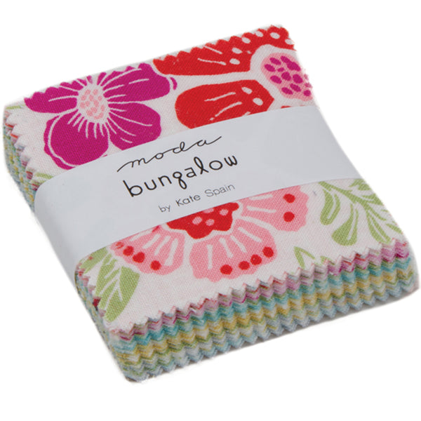 "Bungalow Mini 2.5"" Charm Pack contains 42 2.5"" fabric squares"