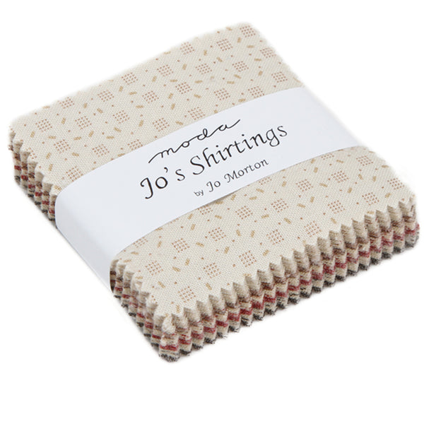 "Jo's Shirtings Mini 2.5"" Charm Pack contains 42 2.5"" fabric squares"