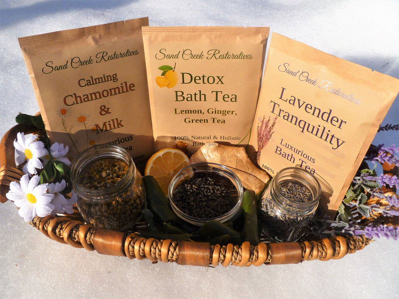 100% Natural Holistic Bath Teas