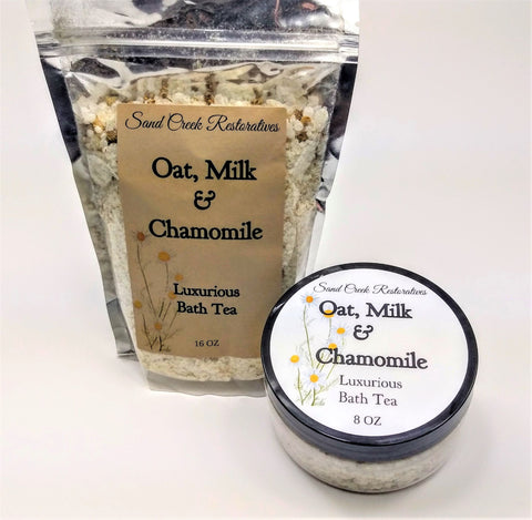oat milk chamomile bath tea