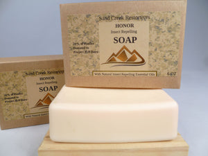 HONOR Insect Repelling Soap - Sand Creek Restoratives bath soap - Bath