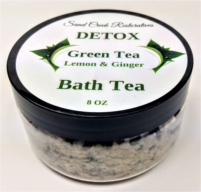 Green Tea, Lemon & Ginger Detox Bath Tea