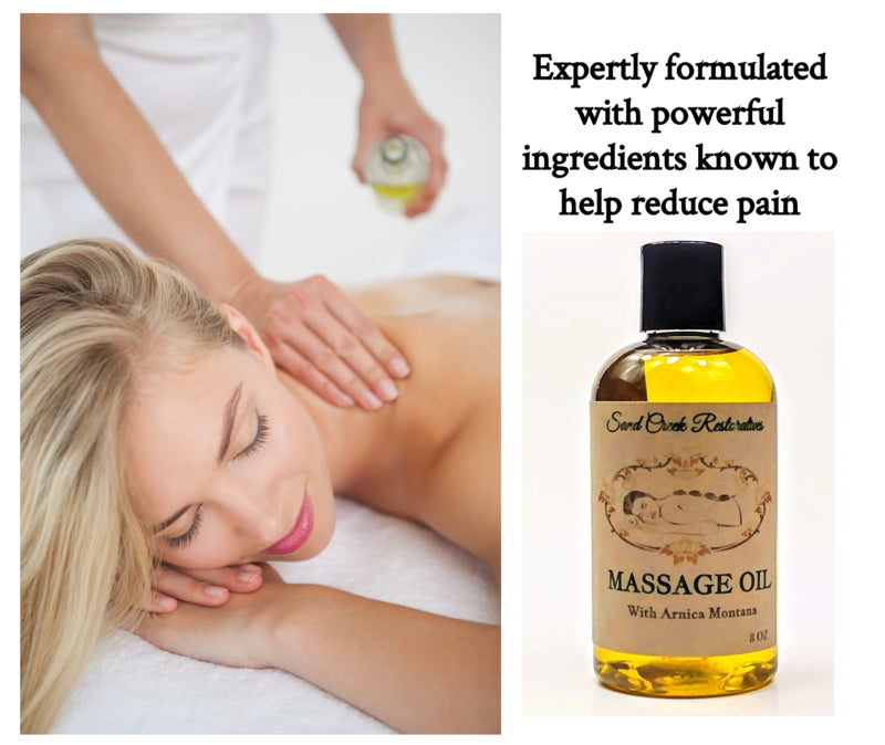 All Natural Massage Oil with Arnica Montana
